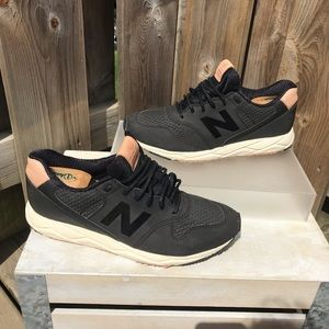 New Balance WRT96 in black with nude accents
